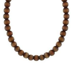 Brown Cats Eye Stone Bead Beaded Chain 15 19 Necklace Jewelry