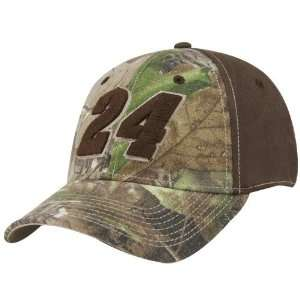 #24 Jeff Gordon Real Tree Camo Flex Fit Hat: Sports & Outdoors