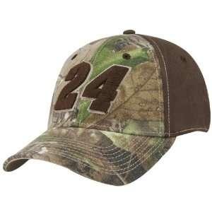 #24 Jeff Gordon Real Tree Camo Flex Fit Hat: Sports & Outdoors