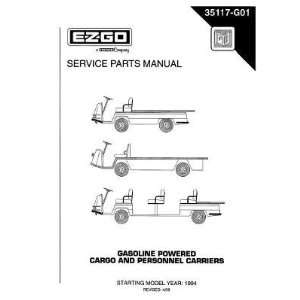 Parts Manual for Gas Cargo and Personnel Carrier Vehicles Patio, Lawn