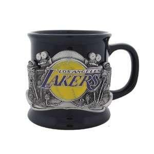 NBA Los Angeles Lakers Set of 2 Black Coffee Mugs  Kitchen