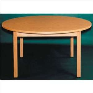 Ironwood Round Oak Frame Table Home & Kitchen