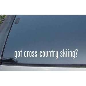 got cross country skiing? Vinyl Decal Stickers Everything