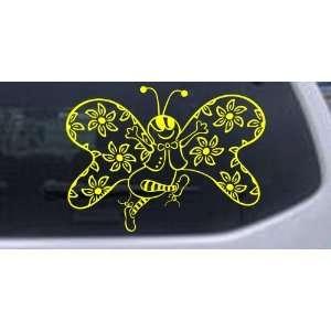 Cute Butterfly with Flowers Butterflies Car Window Wall Laptop Decal