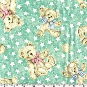 45 Wide Boyds Bears Flannel Teddy Bear Stars Mint