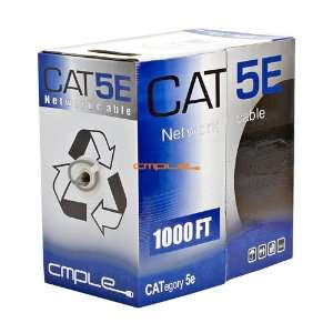 CAT5E Bulk Ethernet LAN Network Cable 1000 feet Light Gray