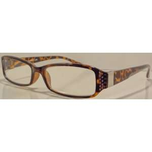 Rhinestone Reading Glasses +3.50 Tortoise Frame Design for