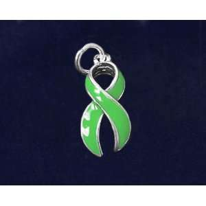 Green Ribbon Charm   Large (50 Charms) Arts, Crafts & Sewing