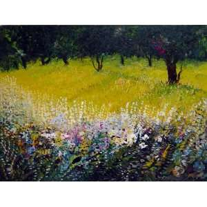 Painting   Landscape   Fall Flowers by Radik Atoyan: Home & Kitchen
