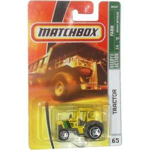 2007 MBX Farm 164 Scale Die Cast Metal Car # 65   Yellow Tractor