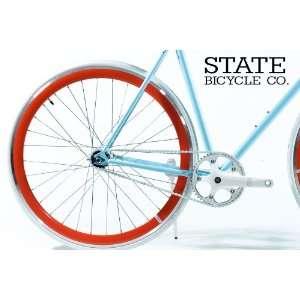 Silver Fixed Gear DEEP PROFILE Wheel Set 700c