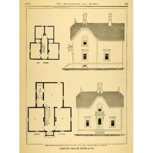 1877 Print House Victorian Architecture Home Floor Plans
