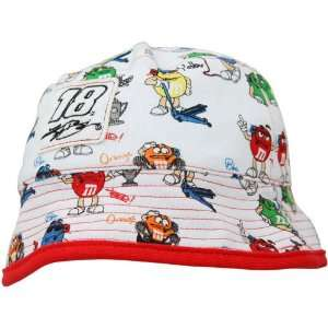 Kyle Busch Toddler Bucket Hat   White Red