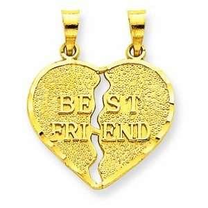 14k Break Apart Best Friend Charm Shop4Silver Jewelry
