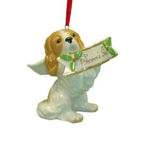 Holiday Cocker Spaniel Dog Ornament Statue Figurine