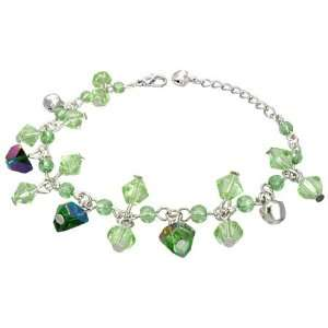 Shop   Fashion Crystal Glass Beads Ball Bell Charm Bracelet/Anklet