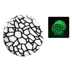 Snake Skin Print Acrylic Plugs Glow In The Dark Double Flared Jewelry