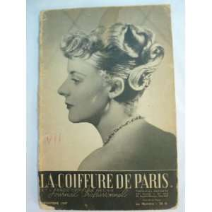 Coiffure De Paris December 1947 Vintage Magazine French Hairdressing