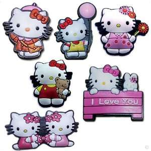 Set of 6, Hello kitty   style your crocs, Fun Clips, Charm