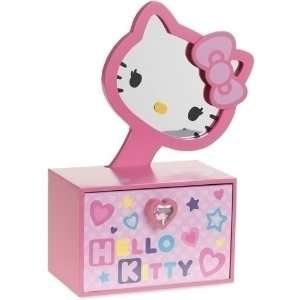 Hello Kitty Jewelry Box with Removable Mirror, Hello Kitty Watch and