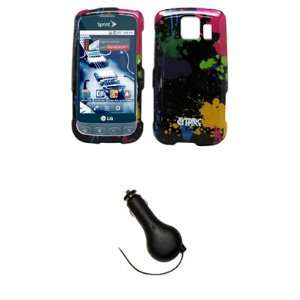 Cover + Retractable Car Charger (CLA) for Sprint LG Optimus S LS670