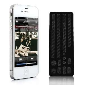 Color Edge Carbon Fibre Sticker Skin Cover For iPhone 4S