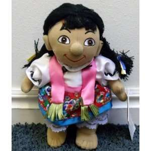 Its a Small World Mexican Girl 8 Plush Bean Bag Doll Toys & Games