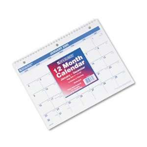 Wirebound Desk/Wall Monthly Calendar AAGSK16 16 Office Products