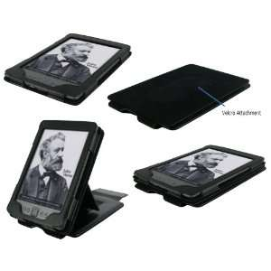 rooCASE Multiple View (Black) Leather Folio Case Cover
