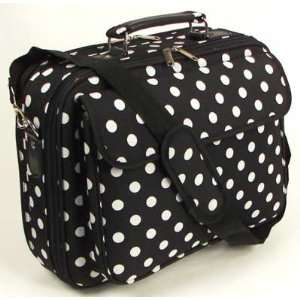15 Black Laptop Computer Case Notebook Bag with White