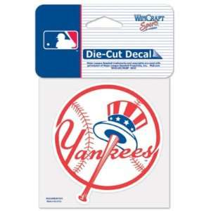 New York Yankees Logo Die Cut Decal 4 x 4 (Colored)