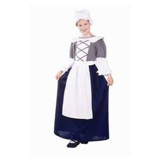Girls Halloween Colonial Pilgrim Pioneer Play Costume S Girls Small (3