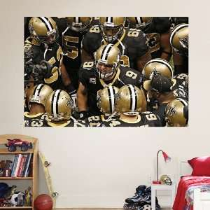 NFL Saints Huddle Mural Vinyl Wall Graphic Decal Sticker