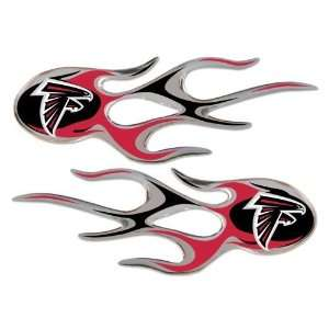 Atlanta Falcons Chrome Micro Flame Decal Sticker NFL Football Sports