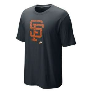 San Francisco Giants Black Nike Cooperstown Dugout Logo Tri Blend Tee