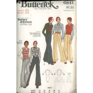 Pattern 6841 Designed by Fashion Designer Betsey Johnson of Alley Cat