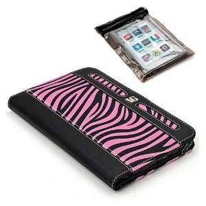 Black and Pink Zebra Carrying Case for BlackBerry PlayBook Tablet