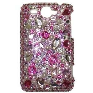Modern Tech Pink Diamante Large Multi Gem Case/ Cover For