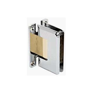 CRL Pinnacle 037 Series Chrome with Brass Accents Wall Mount Full Back