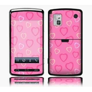 LG VU CU920 Skin Decal Sticker   Pink Hearts~