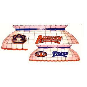 Auburn Tigers Leaded Stained Glass Pool Table Lamp