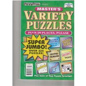 Press Masters Variety Puzzles Magazine (Super Jumbo over 325 puzzles