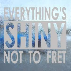 Everything Shiny Firefly Serenity Gray Decal Car Gray