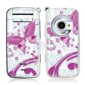 Design Skins for Siemens SF65   Pink Butterfly Design