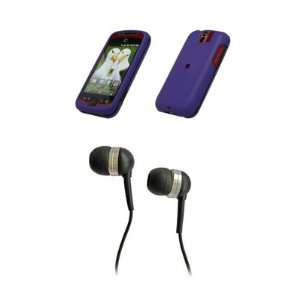 3G Slide Premium Rubberized Purple Snap on Case Cover Cell Phone