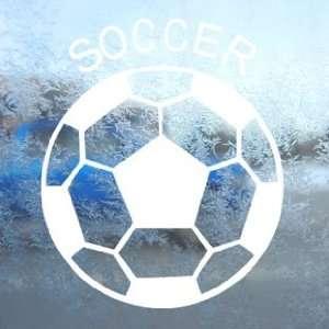 Soccer Ball Futbol White Decal Car Window Laptop White