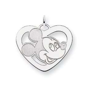 Sterling Silver Disney Mickey Heart Charm Jewelry