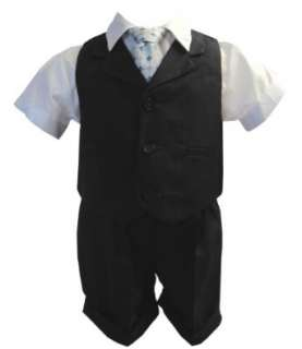 and Toddler Boy Summer Suit Charcoal/Grey Vest Short Set Clothing