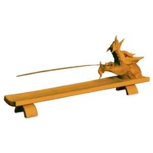 Natural Wood Hand carved Incense Holder (Thailand) Home Improvement