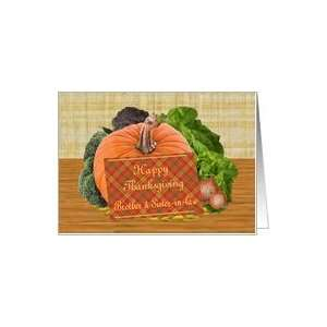 Thanksgiving Wishes to Brother & Sister in Law Card